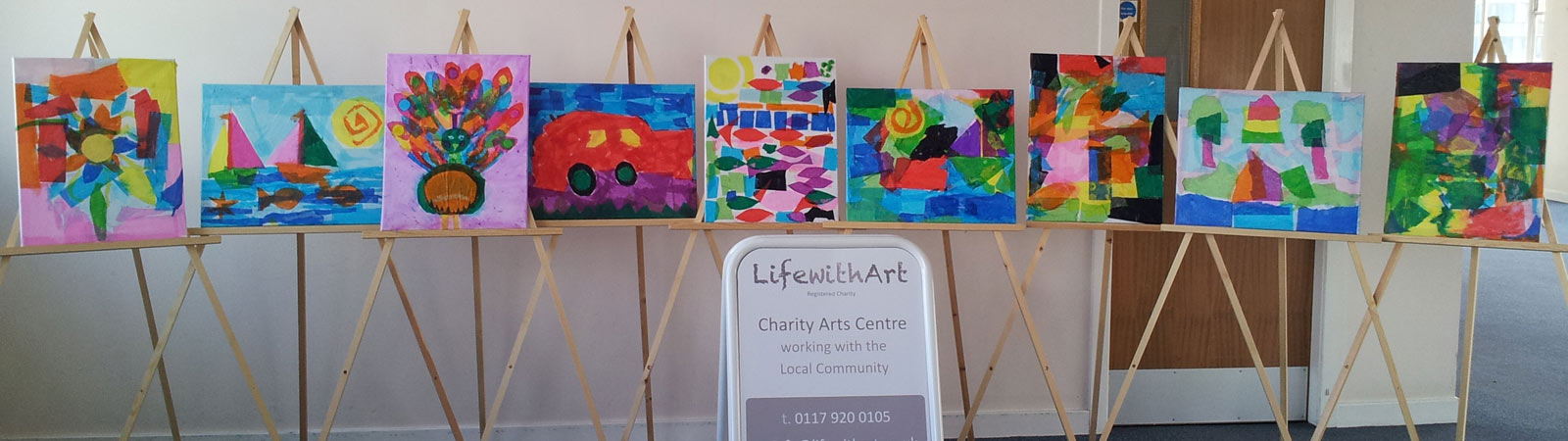 Art displays by people with mental health,